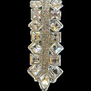 SALE Vintage Art  Deco Clear Rhinestone Dress Clip