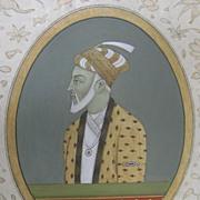 Indian Islamic Mughal miniature painting Aurangzeb 17th / 18th Century