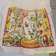 Vintage..Washington State Map Apron...New Condition