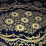 SALE Heavy Double Woven Wool Bedspread In A Spanish Tile Jacquard Pattern With Heavy Wool ...
