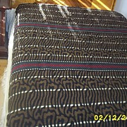 Vintage  Brown   And    Black   Wool  Geometric/Animal  Woven  Blanket/Throw