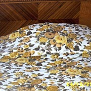 Twin Golden Yellow Jacobean Design Bedspread With Birds And Flowers Made With Waverly's Audubo