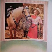 Cardboard Calendar Back..1965..DALE EVANS & TRIGGER..Riding Partners..Litho..A Scheer..Never U