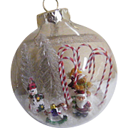 Folk Art Christmas Glass Balls Signed