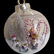 Folk Art Christmas Glass Balls Signed