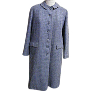 True BARDLEY Warm Winter Coat..Hand Woven Harris Tweed..Scotland..1960's.