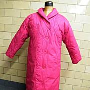 Early Goose Down Coat..Rose Pink..Pink & Black Houndstooth Lining..London Fog..Winning Edge..L