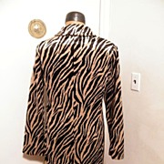 SALE Faux Zebra Coat By DMBM...Store Tags..New Condition..Soft & Silky Faux Fur..Size ...