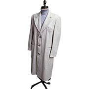 SALE Ratazzi...Men's Winter Over-Coat..Off White Wool..Size 42