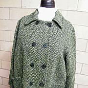 SOLD Boxy Topper Coat / Sweater..Hand Loomed In Ireland..Wool..Size Large