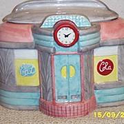 SOLD Oggi... Retro Roadside Diner Ceramic Cookie Jar...Excellent Condition! - Red Tag Sale Ite