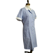 Costume..Uniform..Hospital Worker..Student Nurse..Blue / White Cord..Poly Cotton..Angelica. ..