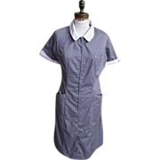 Maid's Or Matron Uniform..Grey Polyester / Cotton..White Collar & Cuffs..White Swan..Size 16 .