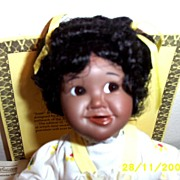 REDUCED Ashton Drake Galleries: Little Handfuls Josie African- American Porcelain Baby Doll