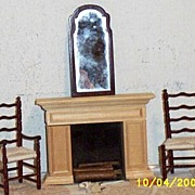 SALE Vintage...1970's..MIB..Williamsburg Electric Flickering Fireplace #2022 By Houseworks.