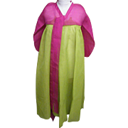 Korean Cerimonial Dress / Gown..Designer..Silk Organza..Magenta Bolero / Line Green Skirt.. ..