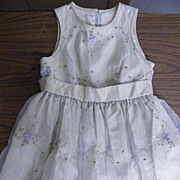 SOLD Jessica McCLINTOCK..Girl's Party Dress..Size 7..Mint Green Taffeta..Embroidered Organdy O