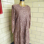 SALE Light Brown Lace Coat Dress..Tags..Lane Bryant..Size 20..Excellent Condition!