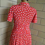 Red Dress With White Polka Dots By Louis Feraud..Razook's..Hong Kong..US 8 ...
