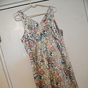 PARIS SLIP DRESS..Printed Silky Satin Paisley in Eastern Paisley Design..Lined..By Identity ..