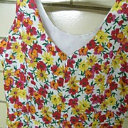Tennis Dress Floral Pique With a Skort Skirt and Scooped Neckline..Hong Kong..Excellent ...