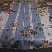 "DECORATOR ""LOT"" of 9  Cotton Fabric Cuts / Samples..Florals / Birds / Sateen & Chint"