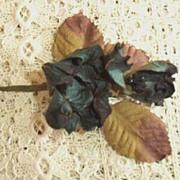 Vintage  Teal   Rose  Corsage