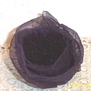 Starched Organdy Antique Violet Colored Vintage Millinery Rose