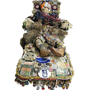 SOLD The BAG LADY Folk Art By Mario Rivoli