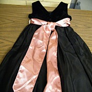 Girl's Size 8 Black Velvet & Fille Sleeveless Dress By Plum Pudding..With Tags