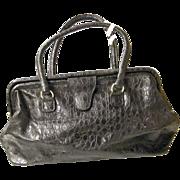 Doctors Bag / Satchel Black Embossed Leather DAME Handbags By David Mehler..Excellent Bag & Co