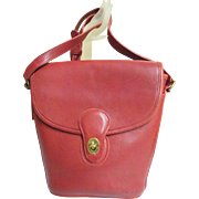 Deep Red Leather Coach Bucket Bag..Spectator..NYC 1994..Hard To Find!