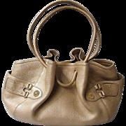 Cole Haan Pebble Leather Handbag / Tote..Beige..Excellent Condition!