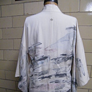 SALE Textured Woven Abstract Design Kimono Jacket  Hand Made In Japan..Size S/M