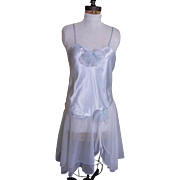 Val Mode Ballerina Style Night Gown In Nylon Chiffon and Satin Bodice..Roomy Size Medium..Exce