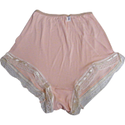 SALE PENDING Pink Rayon Panties By Milstone..1940's..Lace & Ribbon Trim..NEW/ Old Stock..Size