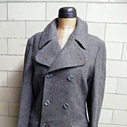 SALE 1960's MOD Men's Wool Coat.Tomorrow At Alexanders..Wool Pique Weave..Made In England..Exc