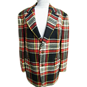 Men's Blanket Tartan Plaid Wool Sports Jacket / Coat..Great Weight For Out-Doors..Shapiro ...