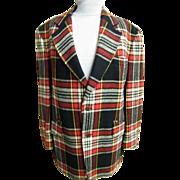 Men's Blanket Tartan Plaid Wool Sports Jacket / Coat..Great Weight For Out-Doors..Shapiro's Sp