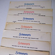 SCHRAFFT'S Long Single Page Luncheon Menu With Advertising.. 1964 & 1965...6 Assorted Availabl