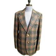 SALE Cortefiel Of Spain Men's Sports Coat / Jacket..Checked..Size 42..1960's..Excellent ...