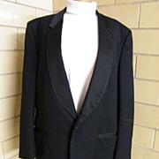SALE Pierre Cardin Men's Tuxedo Jacket..Black..Unique Diamond Dobby Weave..Shawl Satin Collar.
