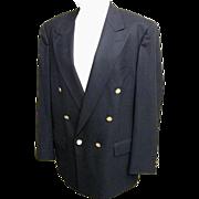 SALE Men's Burberrys' Navy Wool Double Breasted Blazer / Sports Jacket..Bloomingdales.. ...