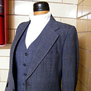 SALE 1960's Men's 3 piece Wool Chambray Check Suit From Woodward's Mens ...