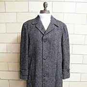 SALE ROBERT HALL Men's Winter Coat..Zip-Out Wool Plaid Lining