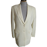 SALE Men's Formal Off-White Sports Jacket..Light Weight Wool..Twill / Crepe Weave..LA ...