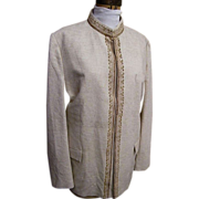 SALE Men's NEHRU Jacket..Sports Jacket..Dress Jacket..Natural Color..Textured..Embroidery..Siz