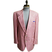 SALE Men's Pink Silk Herringbone Weave Sports Jacket..1960's-60's..Dale Alan..