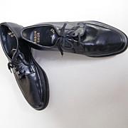1960's Men's MASON Black Leather Dress Shoe..New Condition..Size 6.5-E