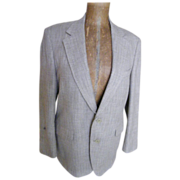 SALE Men's Sports Jacket Linen Weave / Color Wool..Bret Lawrence New York London..Excellent Co
